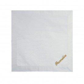 guardanapo de linho bordado dourado familia 40x40cm 99765 d a casa cafe mel 2