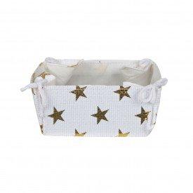 cesta de tecido estrela dourada de natal 8x9x18cm 64519001 d a casa cafe mel 1
