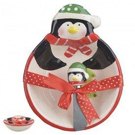 bowl ceramica com espatula pinguim natal 12 5x16cm 26396001 d a casa cafe mel