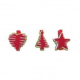 mini grampo decorativo natal vermelho md n14 5 casa cafe mel