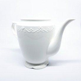 Bule de Porcelana sem Tampa Durable Alto Relevo 2Linha Wolff Casa caf Mel