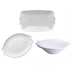 conjunto bandeja bowl ceramica bolinhas com laco 061018 casa cafe e mel 1