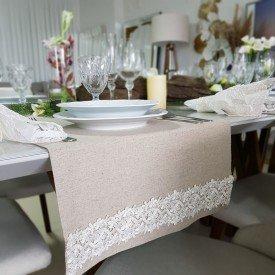 40 mel trilho para mesa de linho com renda 1 52mx43cm amora casa casa cafe mel 4