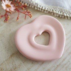 argola guardanapo ceramica de coracao rosa 10x3 5cm 79 334cor silveira casa cafe mel 4