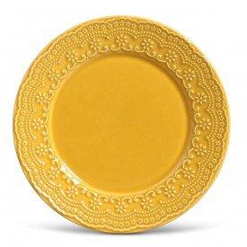prato raso ceramica esparta 6 pecas mostarda 410582 porto brasil casa cafe mel 1