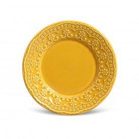 prato para sobremesa ceramica esparta mostarda 6 pecas 410594 porto brasil casa cafe mel