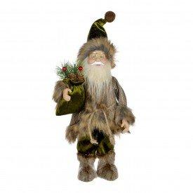 papai noel boneco de natal verde marrom 34cm 72760001 d a casa cafe mel 1