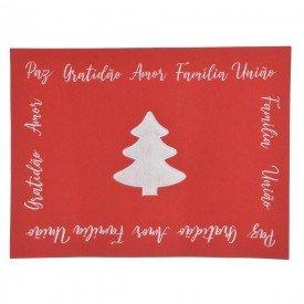 americano retangular natal bordado arvore feltro 40x30cm vermelho 73812001 d a casa cafe mel 1