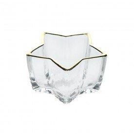 mini petisqueira de vidro estrela filete dourado 10x5 5cm 74230001 d a casa cafe mel 1