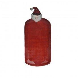 bandeja de ceramica papai noel retangular vermelho 23x10 5cm 74226001 d a casa cafe mel 1