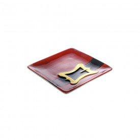 bandeja de ceramica papai noel vermelho 10 5x10 5cm 73503001 d a casa cafe mel 1