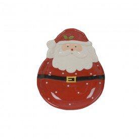 bandeja de ceramica papai noel vermelho 18x15cm 74526001 d a casa cafe mel 1