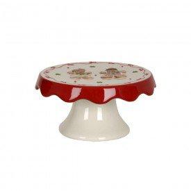 prato com pe ceramica natal biscoito de gengibre 17x17cm 74514001 d a casa cafe mel 1