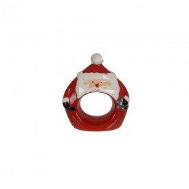 argola para guardanapo de ceramica papai noel 8x3x9cm individual 74525001 d a casa cafe mel 1