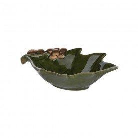 petisqueira de ceramica natal folha de uva dourado 4 2x15x9cm 67051002 d a casa cafe mel 1