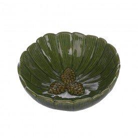 bowl de ceramica natal folha de pinha 15x5 5cm 67055001 d a casa cafe mel 1
