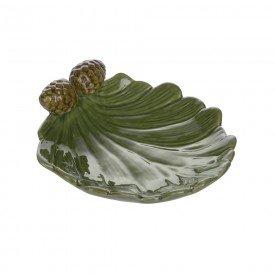 petisqueira de ceramica natal folha de pinha 4 5x15x13cm 67066001 d a casa cafe mel 1