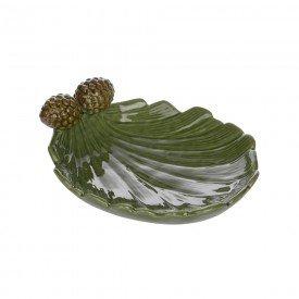 petisqueira de ceramica natal folha de pinha 6 5x20 5x16cm 67053001 d a casa cafe mel 1
