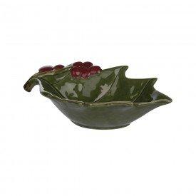 petisqueira de ceramica natal folha de uva 5 5x19x12cm 67052001 d a casa cafe mel 1