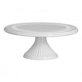 prato com pe ceramica branco o30x12 5cm 01 215 silveira casa cafe mel